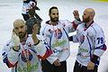 PHL final 2014 Sanok - Tychy Mike Danton, Samson Mahbod, Mike Bayrack 2.jpg