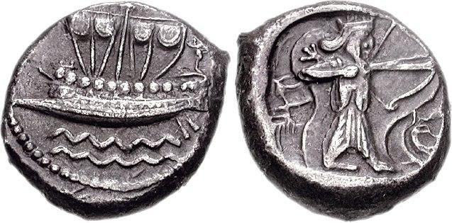 PHOENICIA, Sidon. Uncertain king. Circa 435-425 BC. AR 0.5 Shekel (7.10 g, 12h)