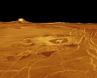 VERITAS (spacecraft) - This is an example of computer generated terrain of Venus, based on data from an orbiting radar imaging satellite. A new global data map would allow a comparison between the two to be made.