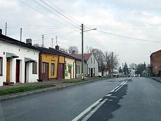Nowa Brzeźnica Village in Łódź Voivodeship, Poland