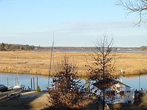 Pagan River - A view of the Pagan River from the backyard of the Wentworth-Grinnan House.