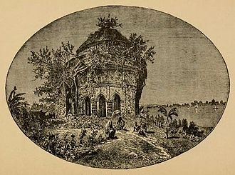 David Brown (East India Company chaplain) - Ruined Hindu temple in Serampore, in the garden of Aldeen House, the property in the early 19th century of David Brown, and used by Henry Martyn