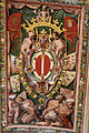 Palazzo colonna, appartamento della principessa isabelle, sala della fontana, affreschi attr. a cristoforo pomarancio con stemma colonna 02.JPG