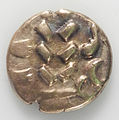 Pale gold uninscribed stater from the Walkington Hoard - obverse YORYM 2005 2202 5.jpg