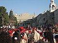 Palestinian Christian Scouts Nativity Church in Bethlehem Christmas Eve 2006.jpg