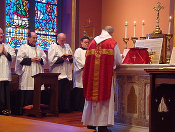 English: Tridentine Mass celebrated on Palm Su...