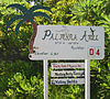 Welcome sign for Palmyra Atoll.