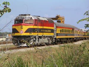 Panama Canal Railway - Passenger Train.JPG