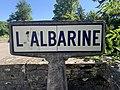 Panneau Michelin Albarine Avenue Libération Ambérieu Bugey 2.jpg