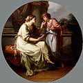 Papirius Praetextatus Entreated by his Mother to Disclose the Secrets of the Deliberations of the Roman Senate by Angelica Kauffman.jpg