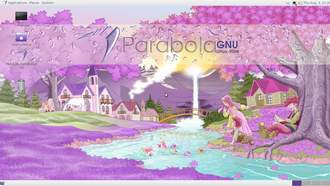 Parabola GNU/Linux-libre - Parabola GNU/Linux-libre running the MATE desktop environment