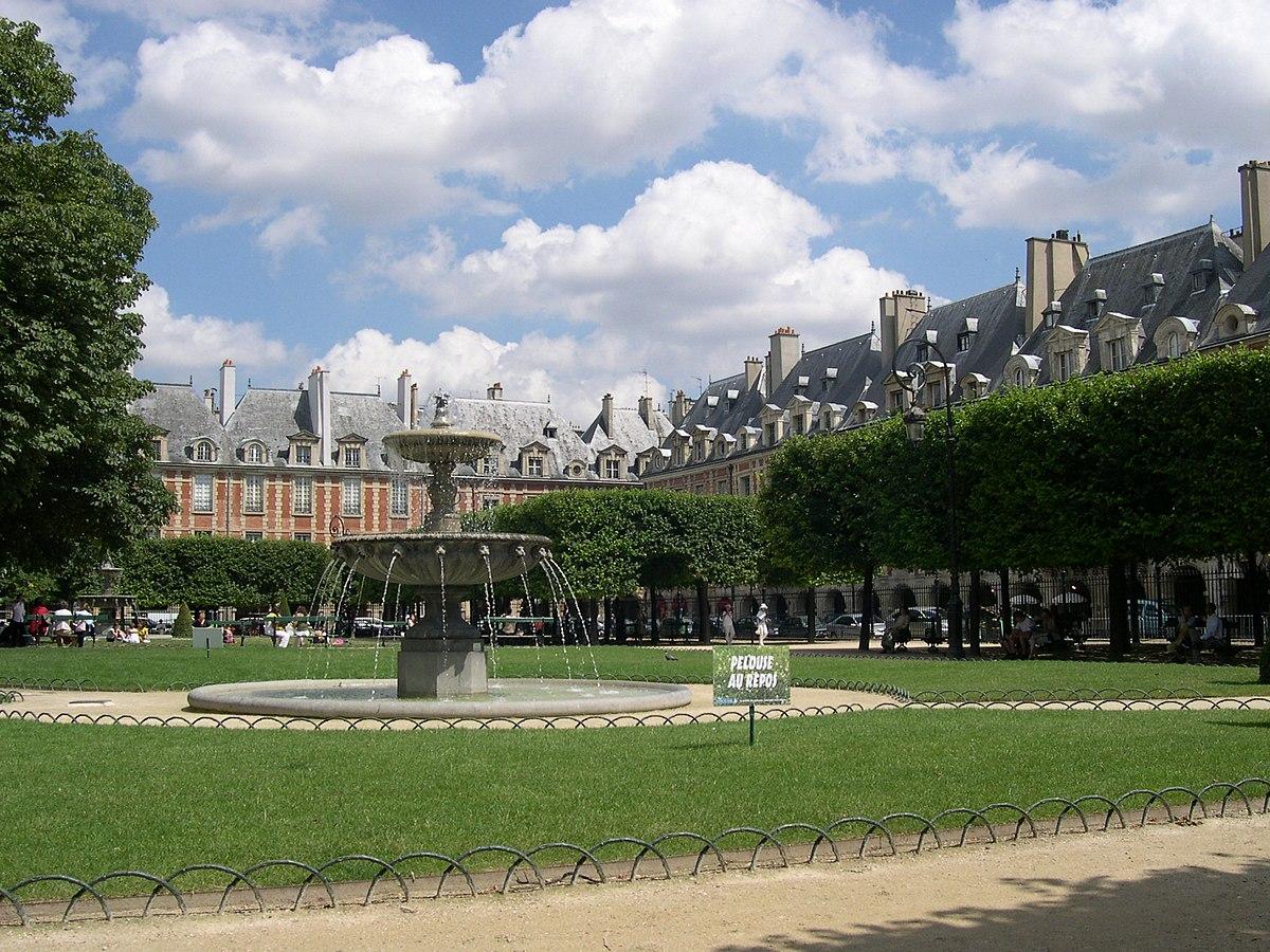 Place des Vosges — Wikipédia