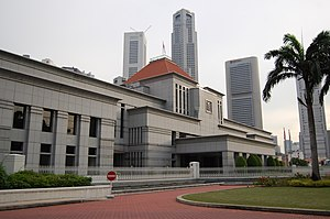 Constitution of the Republic of Singapore Tribunal - The Tribunal was established by a constitutional amendment enacted in 1994 by Parliament (Parliament House, photographed in December 2008, is pictured)