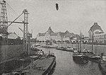 """Parseval VI (PL 6 """"Stollwerk"""") über Düsseldorf. Blick auf das neue Landeshaus am Rhein. Foto Julius Söhn, 1911.jpg"""