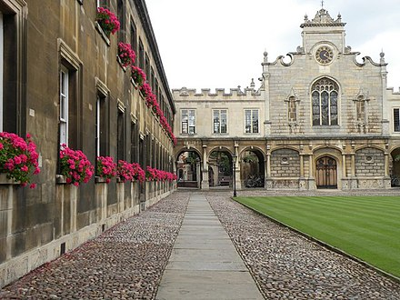 Peterhouse was the first college to be founded in the University of Cambridge. Part of Peterhouse College - geograph.org.uk - 1508178.jpg