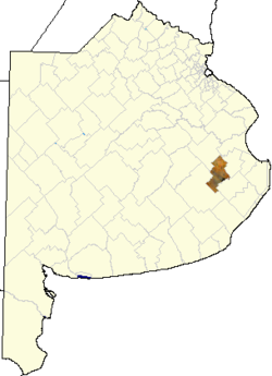 location of General Guido Partido in Buenos Aires Province