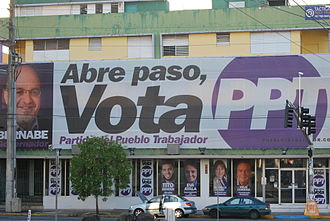 Working People's Party of Puerto Rico - 2012 campaign banners for PPT