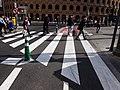 Pas vianant a l'inici del carril bici del carrer Alacant a València.jpg
