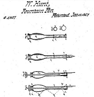 Walter Hunt (inventor) - Image: Patent 4927