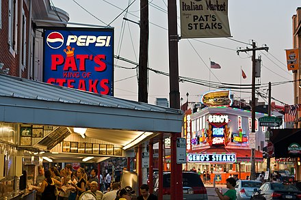Pat's Steaks and Geno's Steaks Pats and Genos.jpg