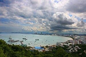 Plage de la ville de Pattaya.