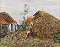 Paul Baum - Bauernhof mit Heuhaufen (1890).jpg