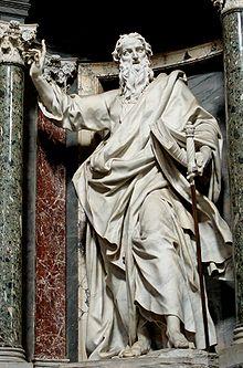 Statua di san Paolo, opera di Pierre-Étienne Monnot, Basilica di San Giovanni in Laterano, Roma.
