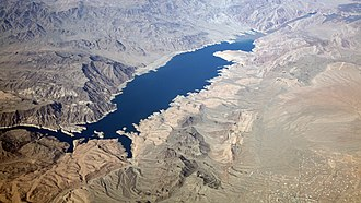 Meadview, Arizona - Image: Pearce Ferry & upper Lake Mead