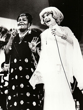Carol Channing - Channing performing with Pearl Bailey in 1973