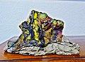 Pedro Meier Skulptur »Siamesischer Berg IV«, (ungebrannter Lehm, Ölfarbe) 1995. Atelier am Golf von Siam, Bang Saen Beach, Chonburi, Thailand. Skulpturenpark, Künstlerkolonie, Bangkok Art Group. Foto © Pedro Meier Multimedia Artist.jpg