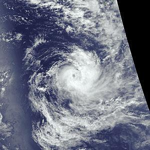 1989–90 Australian region cyclone season - Image: Pedro nov 10 1989 0801Z