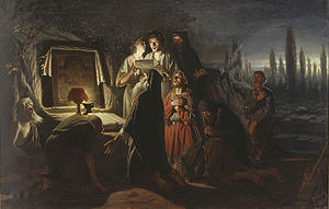 Christianization of Kievan Rus' - Vasily Perov's painting illustrates clandestine meetings of Christians in pagan Kiev.