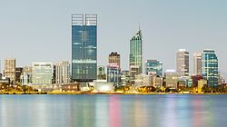 Perth látképe a Mill Point felől