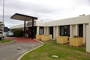 The main entrance to the Perth Immigration Detention Centre