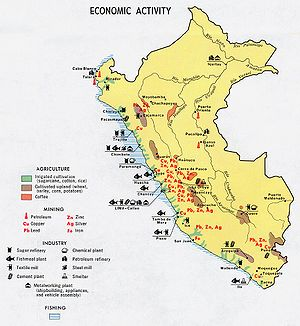 Geography of Peru - Economic activity in Peru