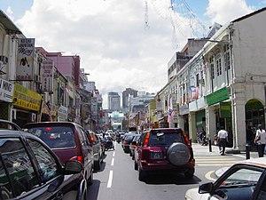 Petaling Street - Traffic jam leading to Kuala Lumpur's Chinatown on Petaling Street.