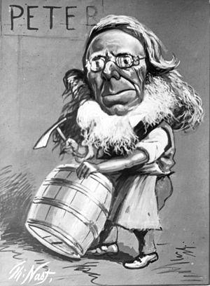 Peter Cooper - Cartoon of Peter Cooper by Thomas Nast
