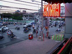 Pham Ngu Lao street in Saigon.jpg