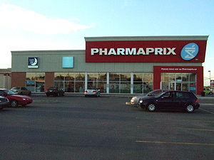English: Pharmaprix Drugstore in Quebec França...