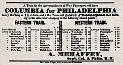 Philadelphia & Columbia Railroad schedule 1837.jpg