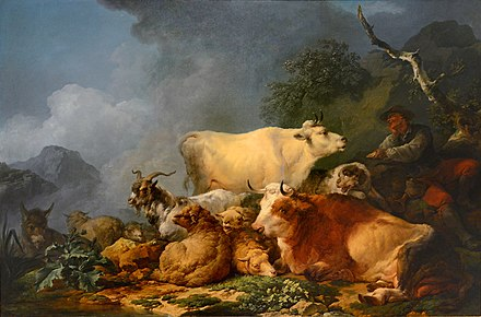 Paysage avec animaux, 1767 Philippe-Jacques Loutherbourg - Musee des Bx-Arts Strasbourg-Troupeau.jpg