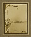 Photograph of Beatrice Kerr diving from a platform (7654654324).jpg