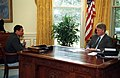 Photograph of President William J. Clinton Meeting with Secretary of Agriculture Mike Espy - NARA - 2569285.jpg