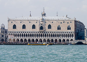 This is a photograph of the Doge's Palace in V...