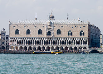 Venetian Gothic architecture - Gothic arches adorn the Doge's Palace, Venice