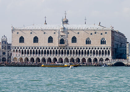 Photograph of of the Doges Palace in Venice