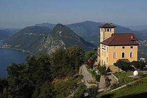 Brè-Aldesago - Restaurant near summit of Monte Brè, with view of Lake Lugano