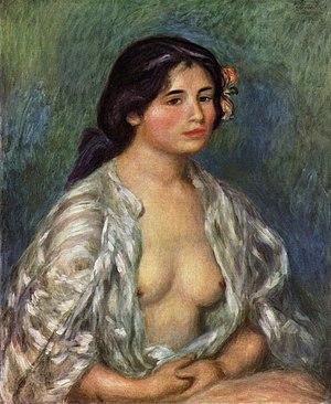 Gabrielle with Open Blouse - Image: Pierre Auguste Renoir 042