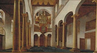 Interior of the Ship of the Pieterskerk in Utrecht, Seen to the West