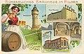 Pilsen (CZ), Tschechien - Wasserturm; Neue Mälzerei; Elektrische Kraft- und Lichtzentrale (Zeno Ansichtskarten).jpg